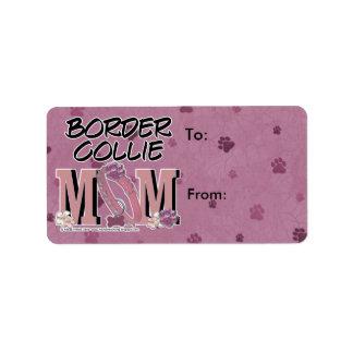 MAMÁ del border collie Etiqueta De Dirección