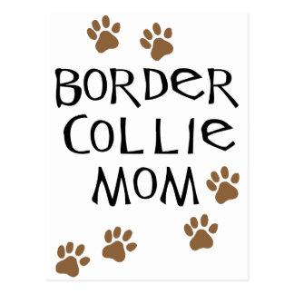 Mamá del border collie postal