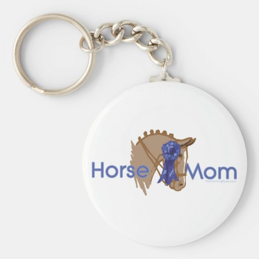 Mamá del caballo llavero redondo tipo pin