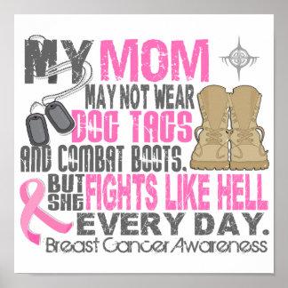 Mamá del cáncer de pecho de las placas de póster