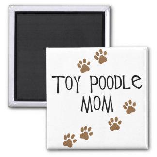 Mamá del caniche de juguete imán cuadrado