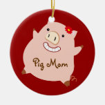 Mamá del cerdo (cerdo bonito) ornamento para reyes magos
