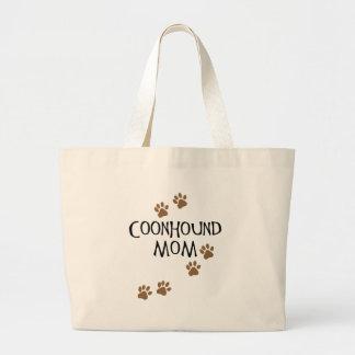 Mamá del Coonhound Bolsa Tela Grande