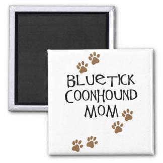 Mamá del Coonhound de Bluetick Imán Cuadrado