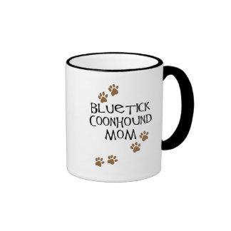 Mamá del Coonhound de Bluetick Taza A Dos Colores