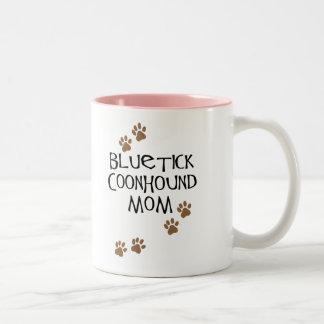 Mamá del Coonhound de Bluetick Taza Dos Tonos