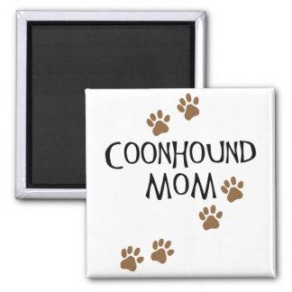 Mamá del Coonhound Imán Cuadrado
