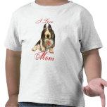 Mamá del corazón de Basset Hound Camisetas