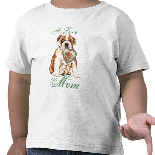Mamá del corazón del dogo camisetas