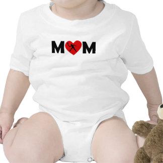 Mamá del corazón del tenis trajes de bebé