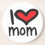 ¡Mamá del corazón I - mamá del amor de I! Posavasos Personalizados