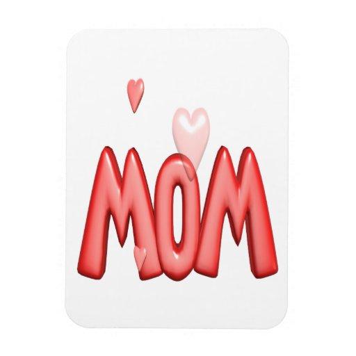 Mamá del corazón imanes