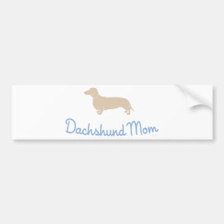 ¡Mamá del Dachshund! Pegatina Para Auto