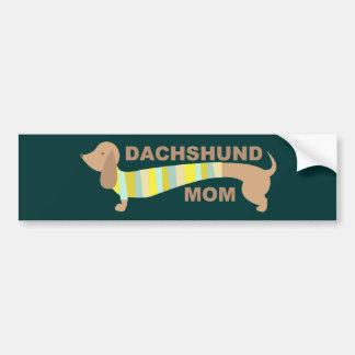 Mamá del Dachshund Etiqueta De Parachoque