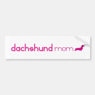 Mamá del Dachshund Pegatina Para Auto