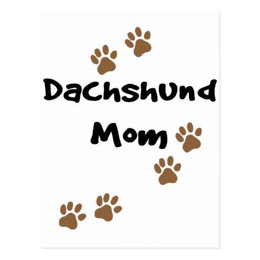 Mamá del Dachshund Tarjeta Postal