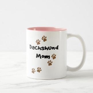 Mamá del Dachshund Tazas