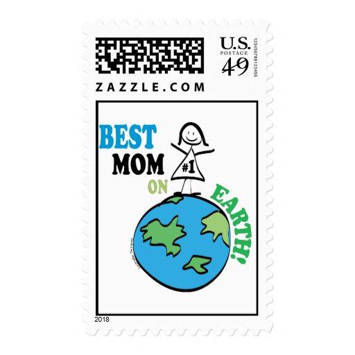 Mamá del día de madres la mejor en la tierra sello