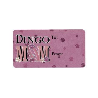 MAMÁ del Dingo Etiquetas De Dirección