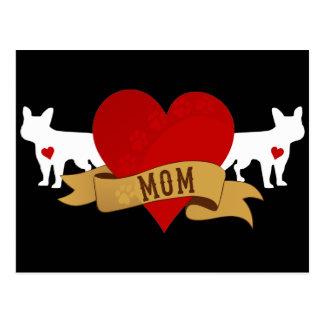 Mamá del dogo francés [estilo del tatuaje] postal