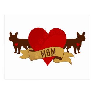 Mamá del dogo francés [estilo del tatuaje] postales