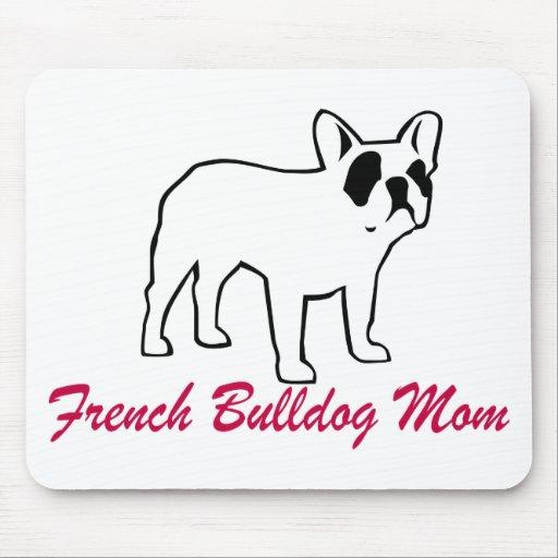 Mamá del dogo francés tapetes de ratones