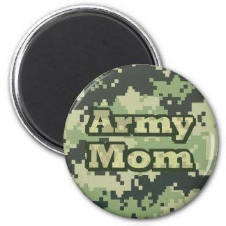 Mamá del ejército imán redondo 5 cm