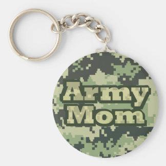 Mamá del ejército llavero redondo tipo pin