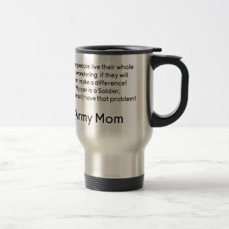 Mamá del ejército ningún hijo del problema taza de viaje de acero inoxidable