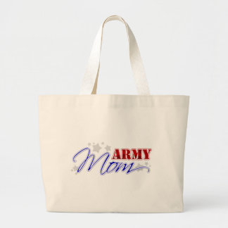 Mamá del ejército patriótica bolsa tela grande
