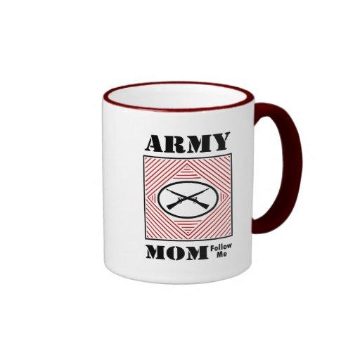 Mamá del ejército (sígame) taza