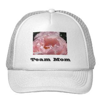 ¡Mamá del equipo! se divierte las flores color de  Gorro