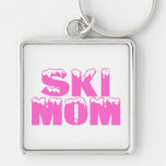 Mamá del esquí llavero personalizado