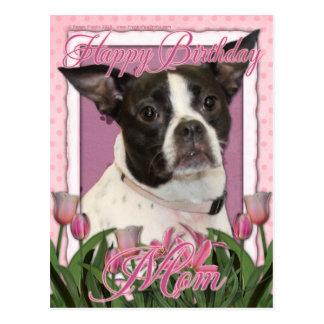 Mamá del feliz cumpleaños - Boston y rata Terrier Postal