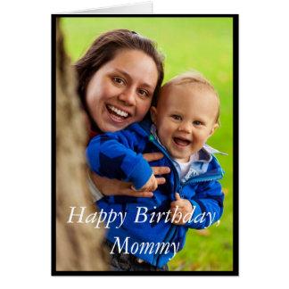 Mamá del feliz cumpleaños de la foto - tarjeta de