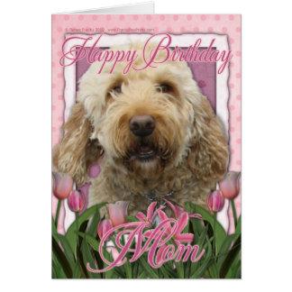 Mamá del feliz cumpleaños - Goldendoodle Tarjeta De Felicitación