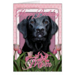 Mamá del feliz cumpleaños - Labrador - negro - ind Tarjeton