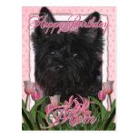 Mamá del feliz cumpleaños - mojón - negro - Rosco Tarjetas Postales