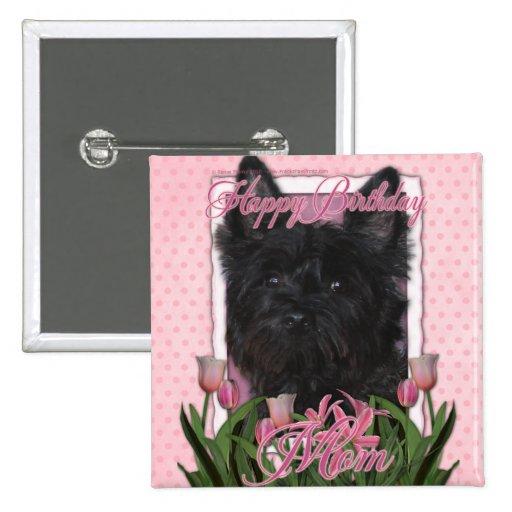 Mamá del feliz cumpleaños - mojón Terrier - Rosco Pins