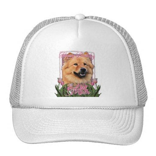 Mamá del feliz cumpleaños - perro chino de perro c gorras de camionero
