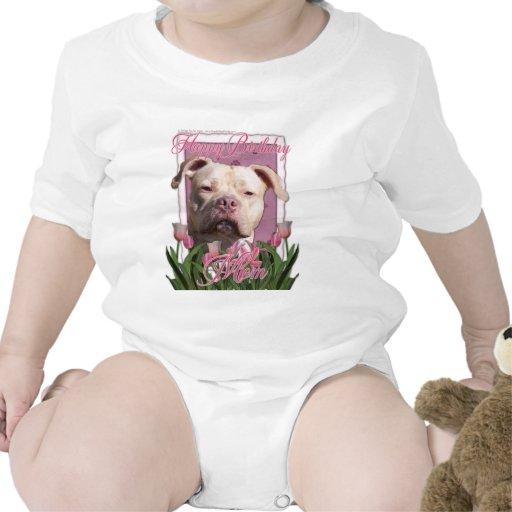 Mamá del feliz cumpleaños - Pitbull - chica del Trajes De Bebé