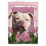 Mamá del feliz cumpleaños - Pitbull - chica del Tarjeta De Felicitación