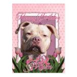 Mamá del feliz cumpleaños - Pitbull - chica del Postal