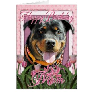Mamá del feliz cumpleaños - Rottweiler - Tarjeta De Felicitación