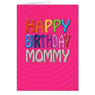 Mamá del feliz cumpleaños - saludo colorido feliz tarjeta de felicitación