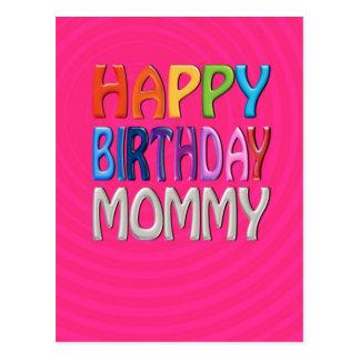 Mamá del feliz cumpleaños - saludo colorido feliz postal