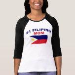 Mamá del filipino #1 playera