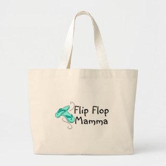 Mama del flip-flop bolsas lienzo