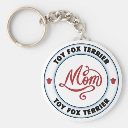 Mamá del FOX TERRIER del JUGUETE Llavero Personalizado