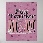 MAMÁ del fox terrier Poster